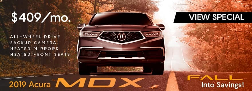 Lease a 2019 Acura MDX for 409 per month for 36 months
