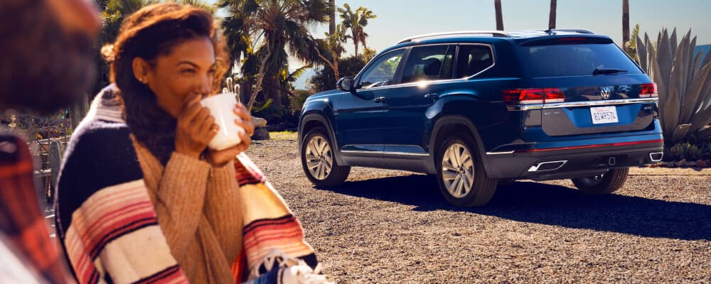 2021 Volkswagen Atlas on the beach