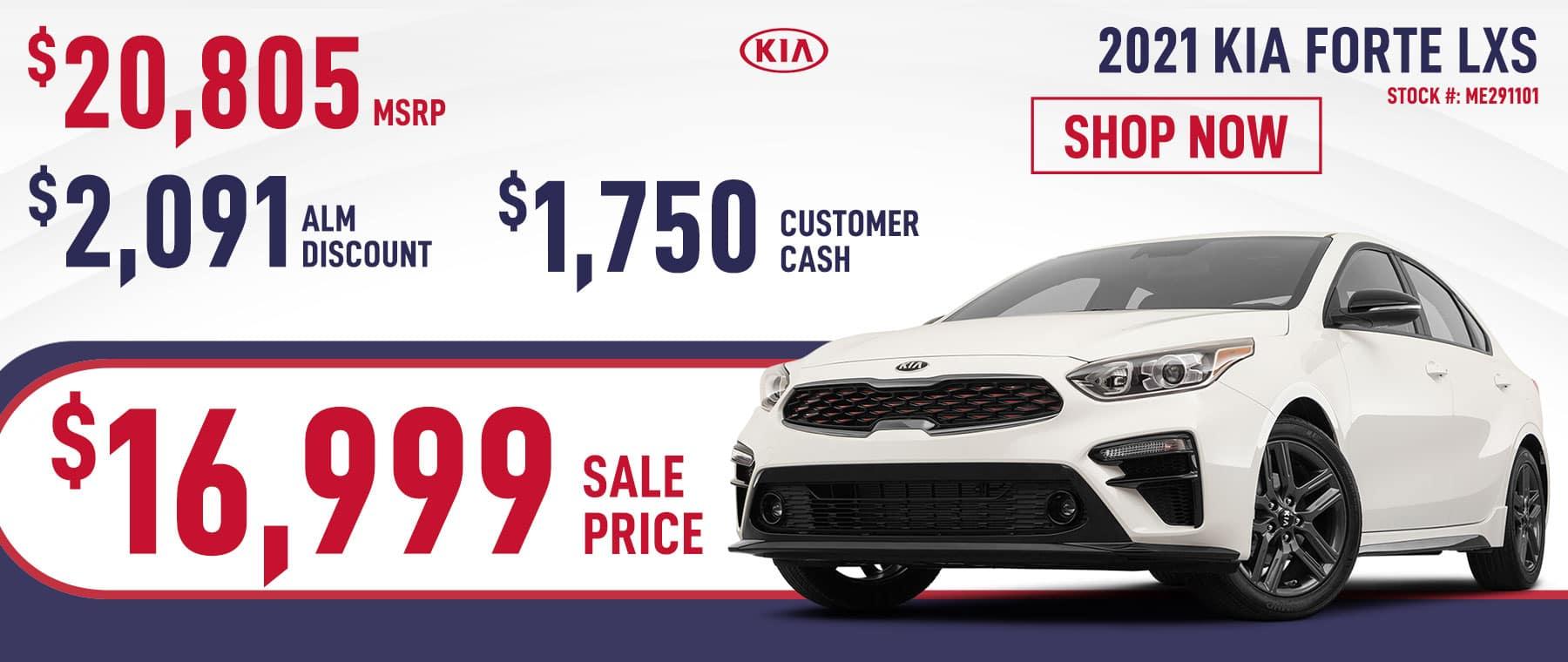 2021 Kia Forte LXS Sale Price $16,999