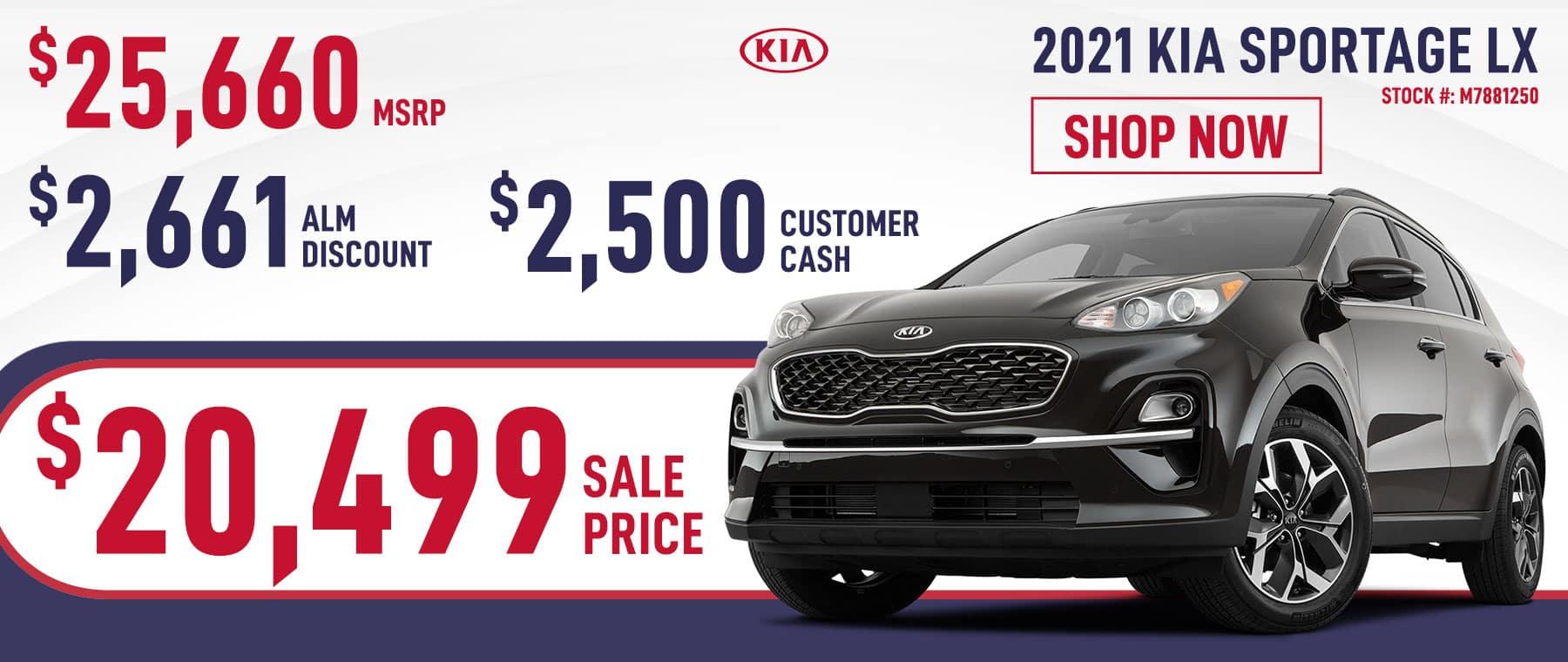 2021 Kia Sportage LX Sale Price $20,499