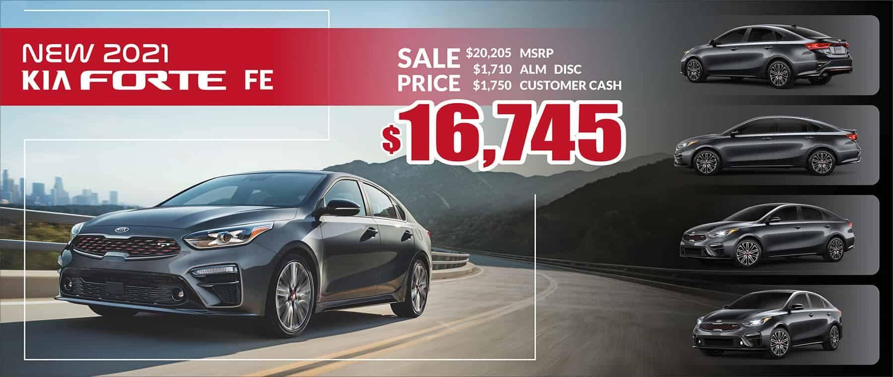 2021 Kia Forte FE Sale Price $16,745