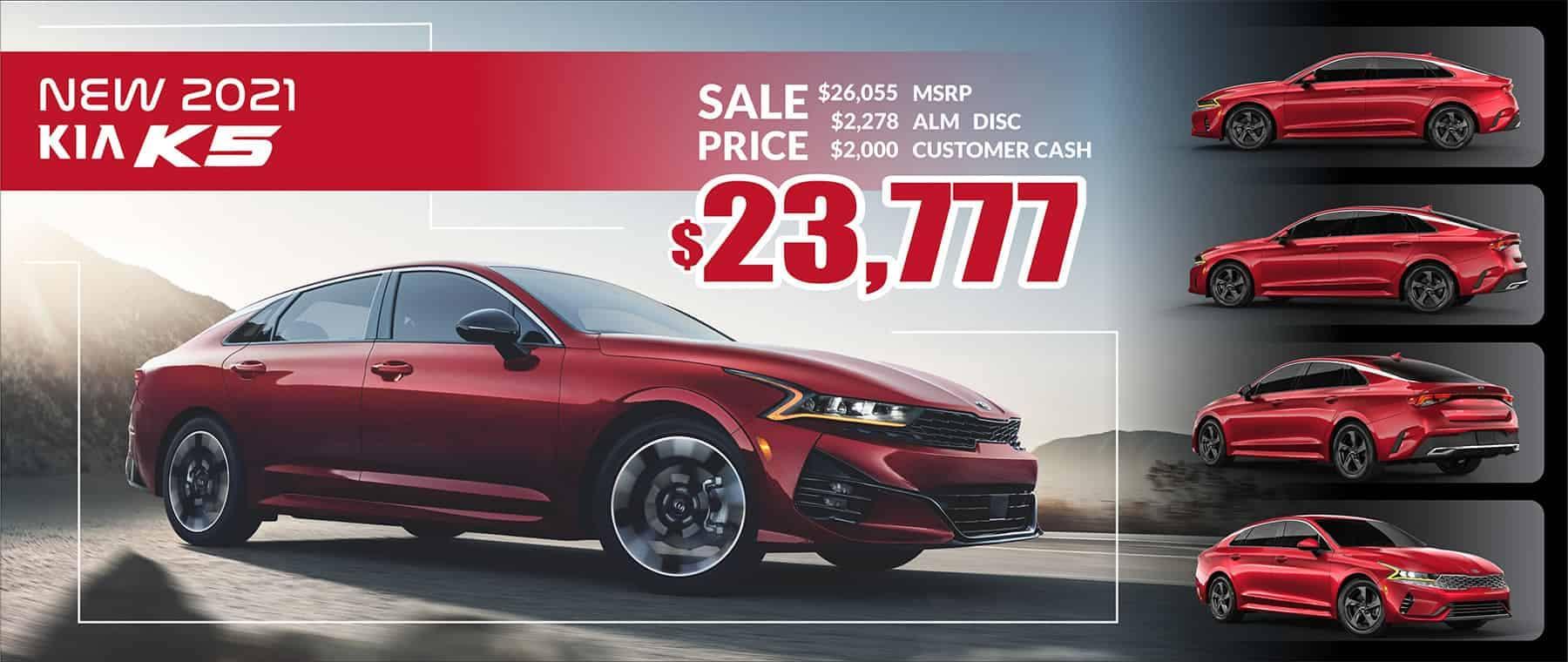 2021 Kia K5 Sale Price $23,777