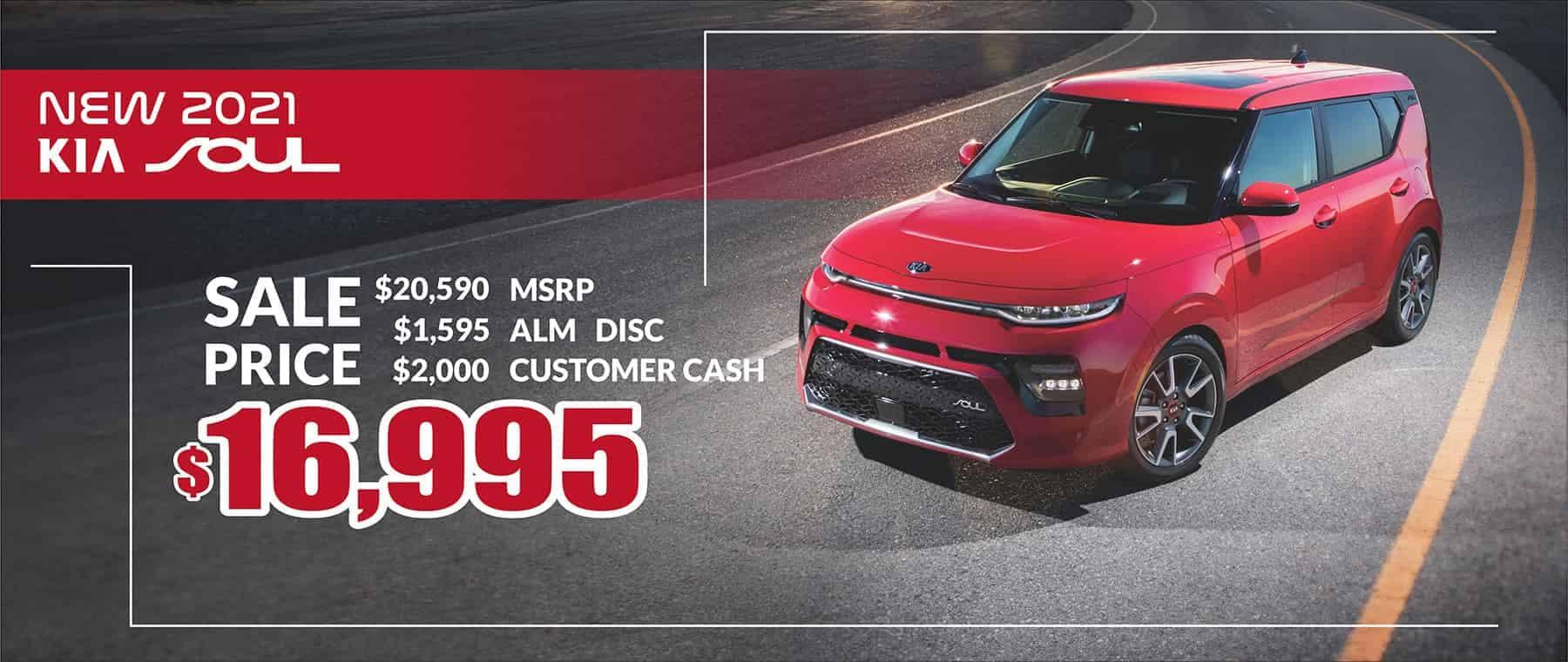 2021 Kia Soul Sale Price $16,995