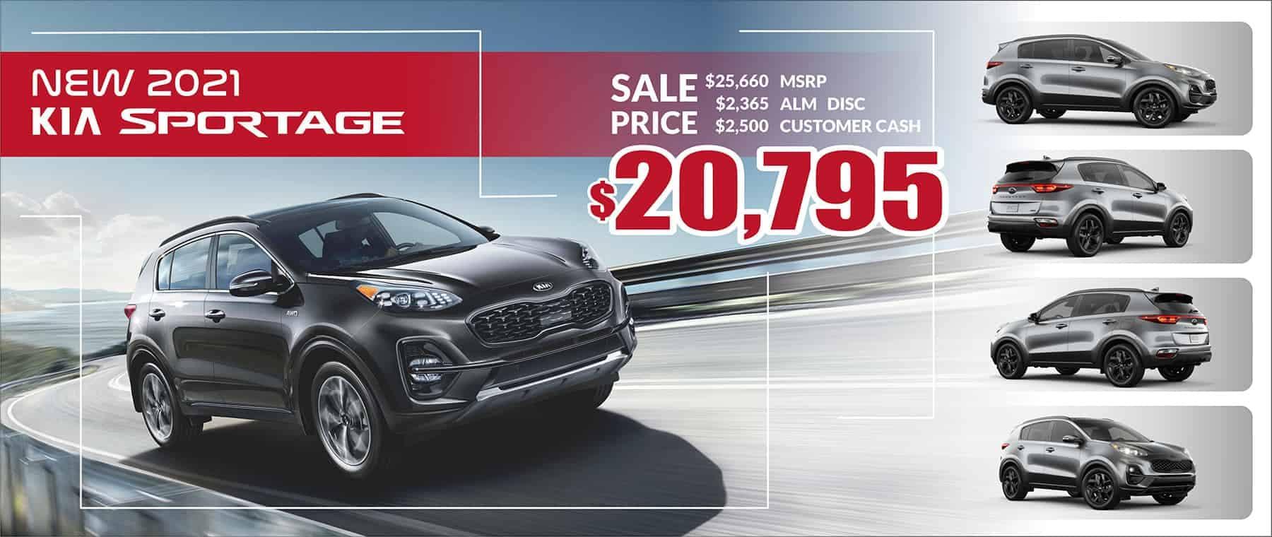 2021 Kia Sportage Sale Price $20,795