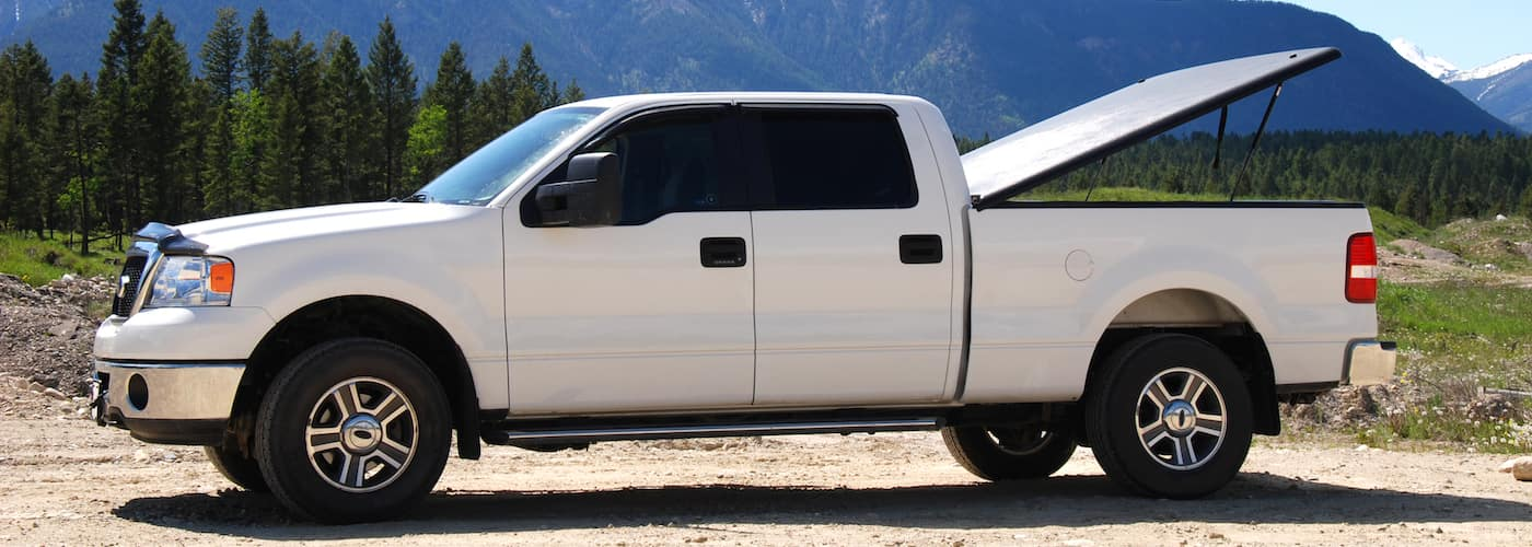 White Truck in Mountains