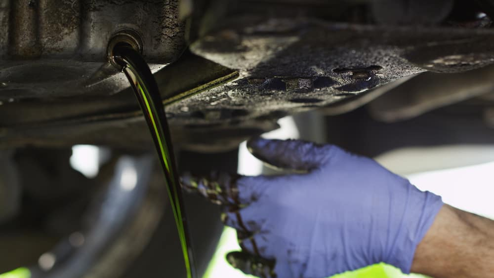 Oil Draining from Car