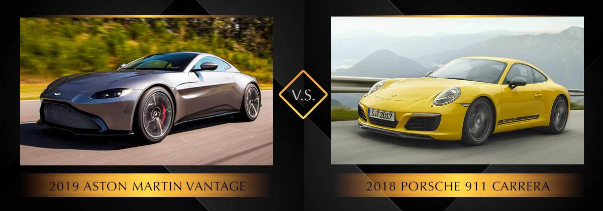 2019 Aston Martin Vantage vs 2018 Porsche 911 Carrera S Chicago IL