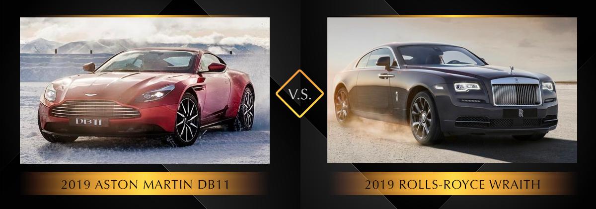 2019 Aston Martin DB11 vs 2019 Rolls-Royce Wraith Chicago IL