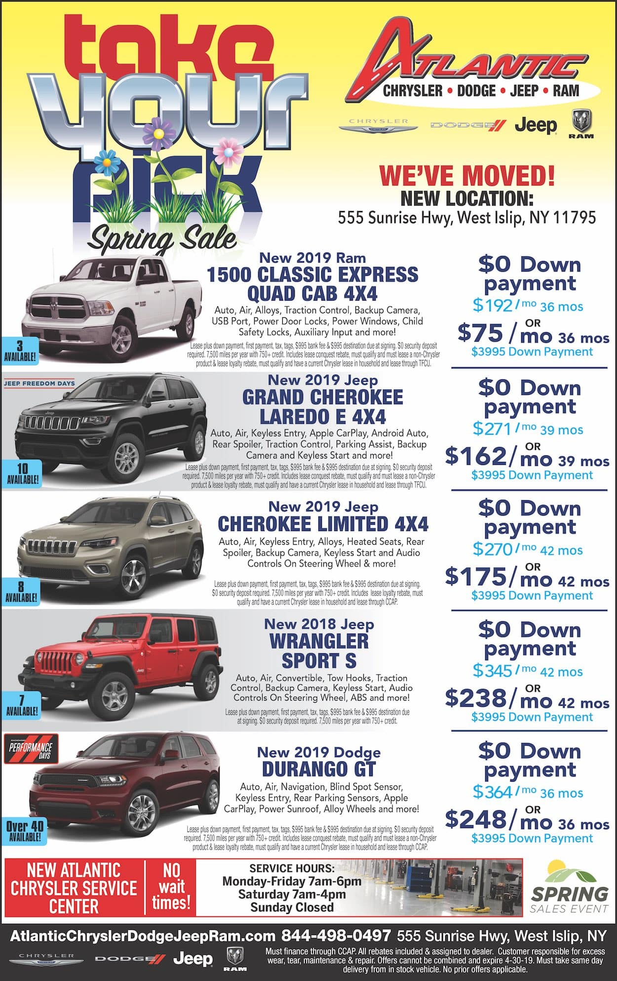 Atlantic Chrysler Dodge Jeep Ram - Shop Our Ad!