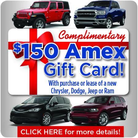 150 Amex Gift Card