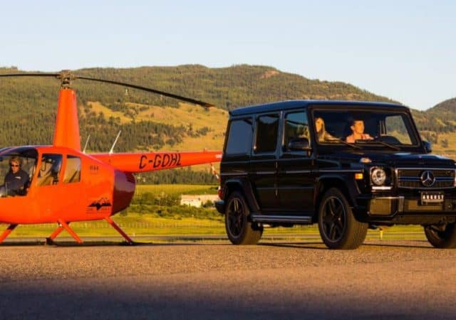 August Motorcars explores the skies with OK Heli - Heli Tours and luxury cars in Kelowna