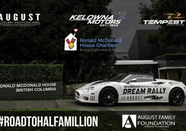 Road the Half a Million Dollars - Okanagan Dream Rally - August Family Foundation - Ronald McDonald House
