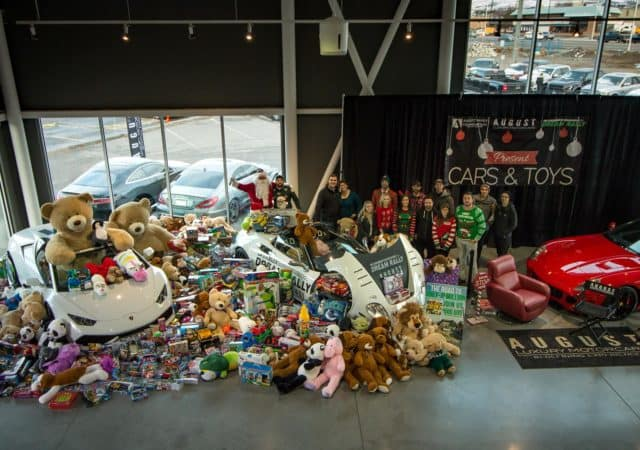 Cars & Toys 2017 at August Motorcars in Kelowna, BC - Toy Drive
