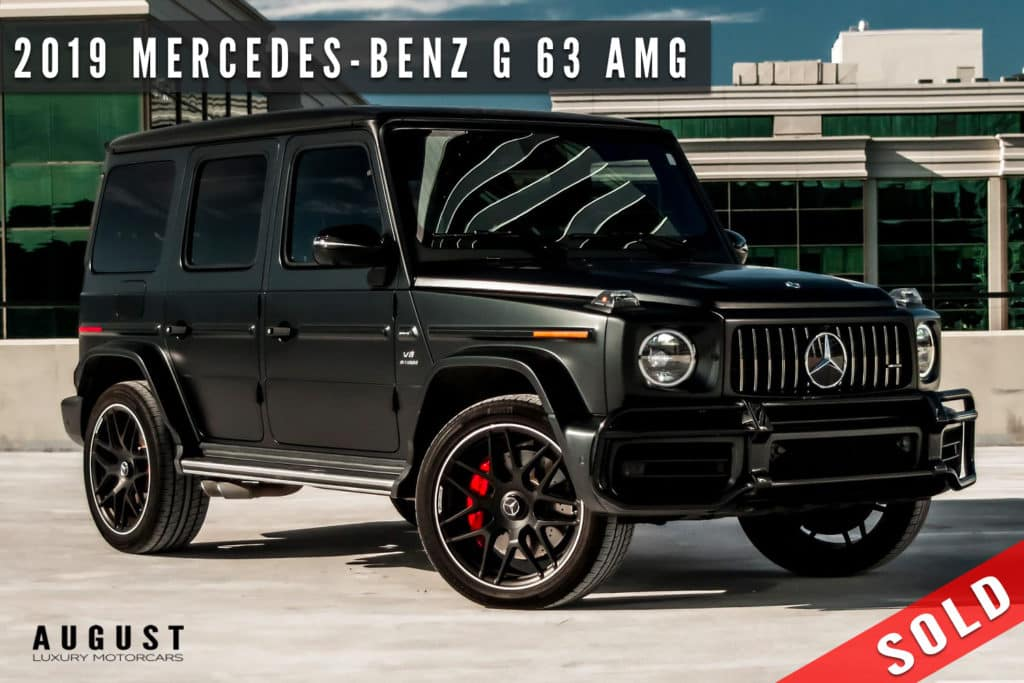 2019 Mercedes-Benz G-Class AMG G 63 Sold By August Motorcars in Kelowna BC
