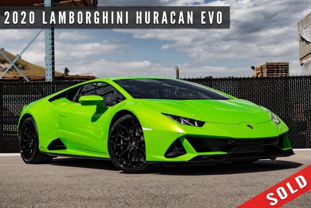 2020 Lamborghini Huracan EVO Sold By August Motorcars