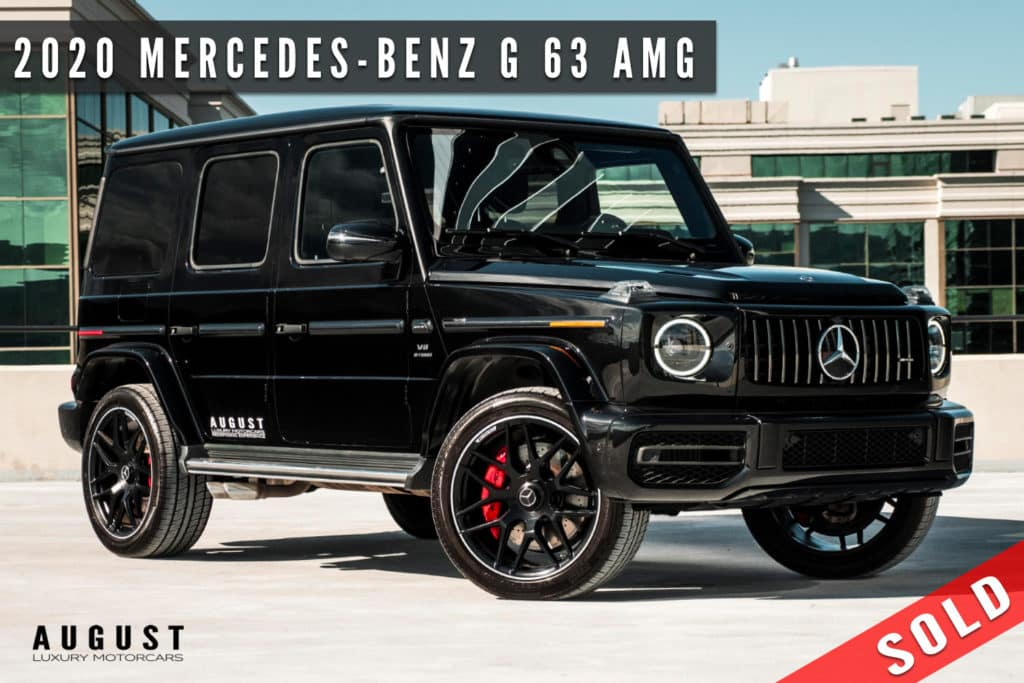 2020 Mercedes-Benz G-Class AMG G 63 Sold By August Motorcars
