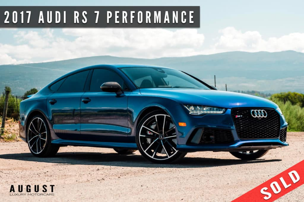 2017 Audi RS 7 Performance Sold By August Motorcars