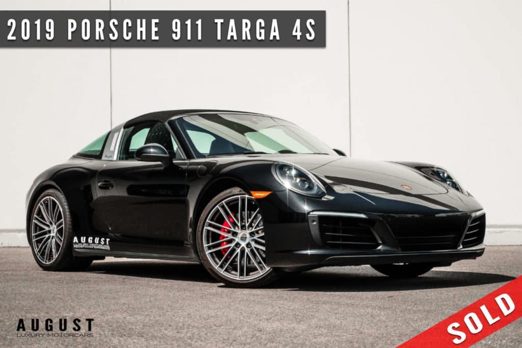 2019 Porsche 911 Targa 4S Sold at August Motorcars in Kelowna BC
