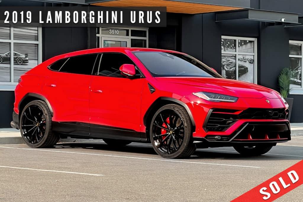 2019 Lamborghini Urus Sold By August Motorcars