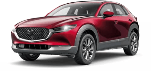 CX-30 angled view red