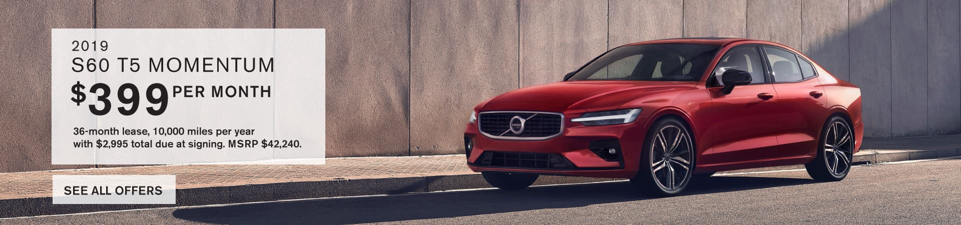 Autobahn Volvo Fort Worth   2019 S60 Lease Special