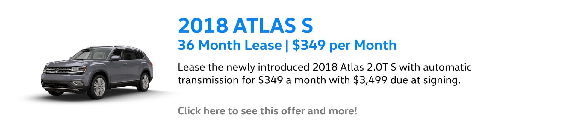 Autobahn Volkswagen | Atlas Lease Special