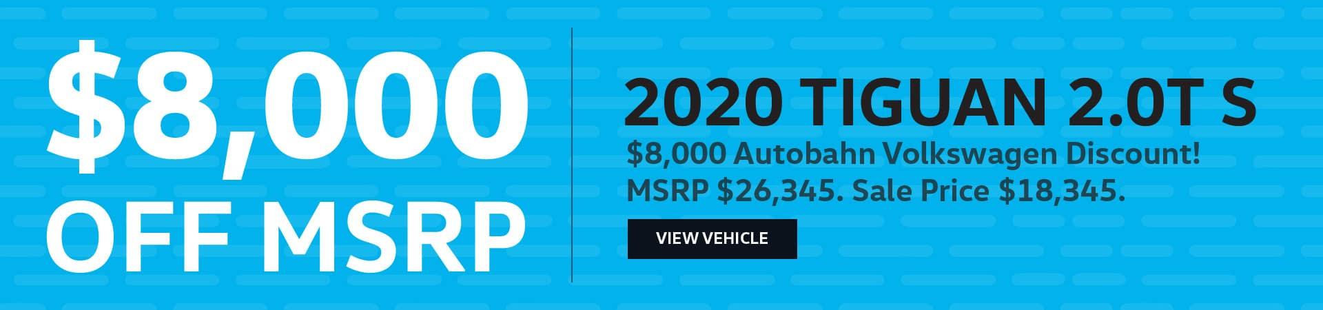 Autobahn Volkswagen | 2020 Tiguan - $8,000 Off MSRP