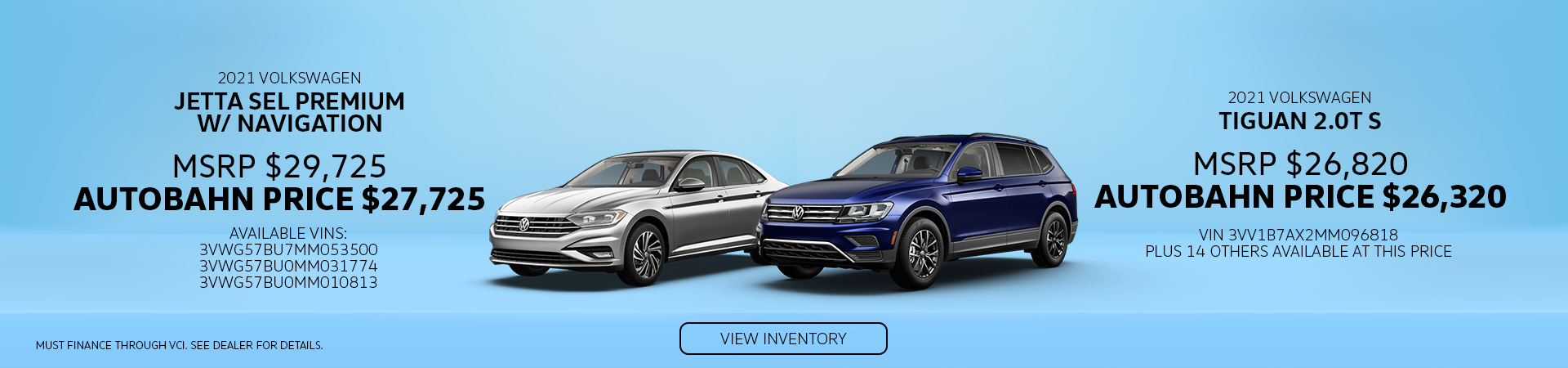 Autobahn_May Offers_Jetta Tiguan