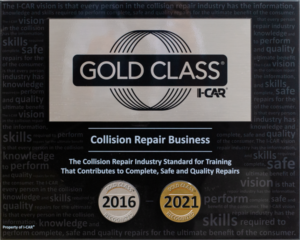 I-CAR Gold Class Collision Repair Business