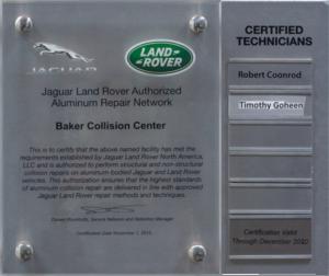 Jaguar Land Rover Authorized Aluminum Repair Network