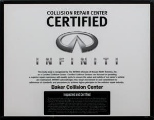 INFINITI Certified Collision Repair Network Certified