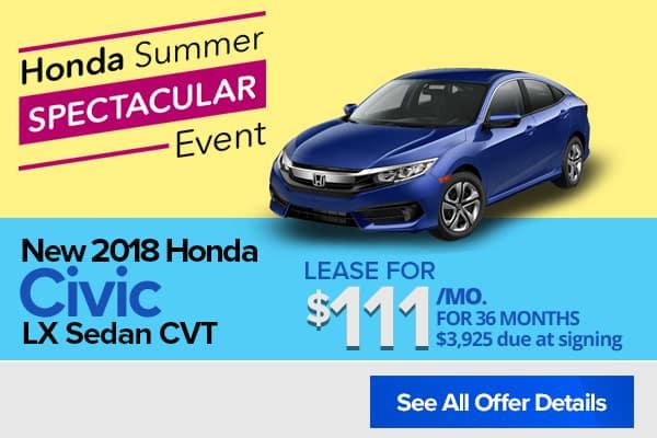 New 2018 Honda Civic LX Sedan CVT