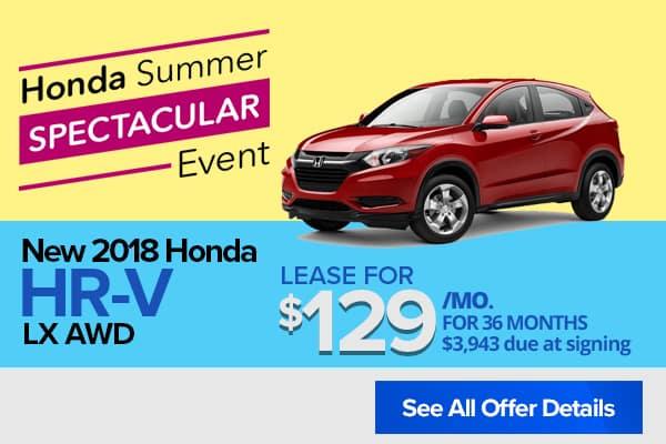 New 2018 Honda HR-V LX AWD