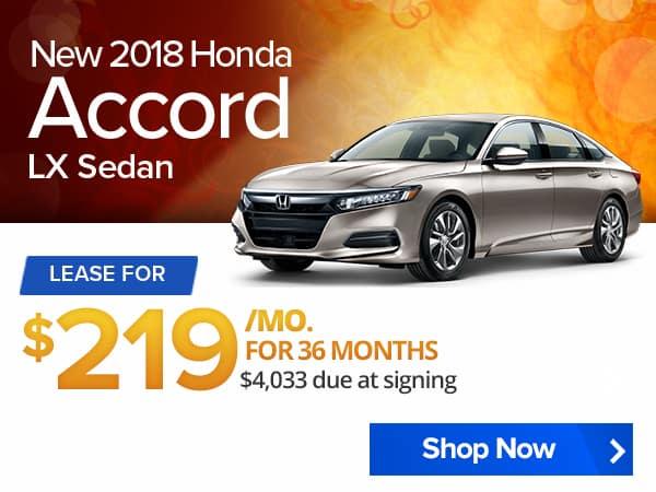 New 2018 Honda Accord LX Sedan