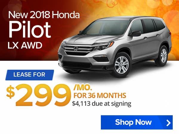 New 2018 Honda Pilot LX AWD