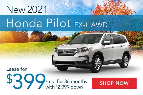 New 2021 Honda Pilot EX-L AWD