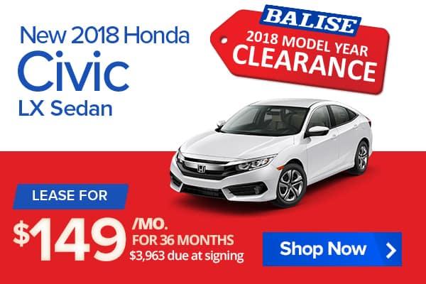 New 2018 Honda Civic LX Sedan