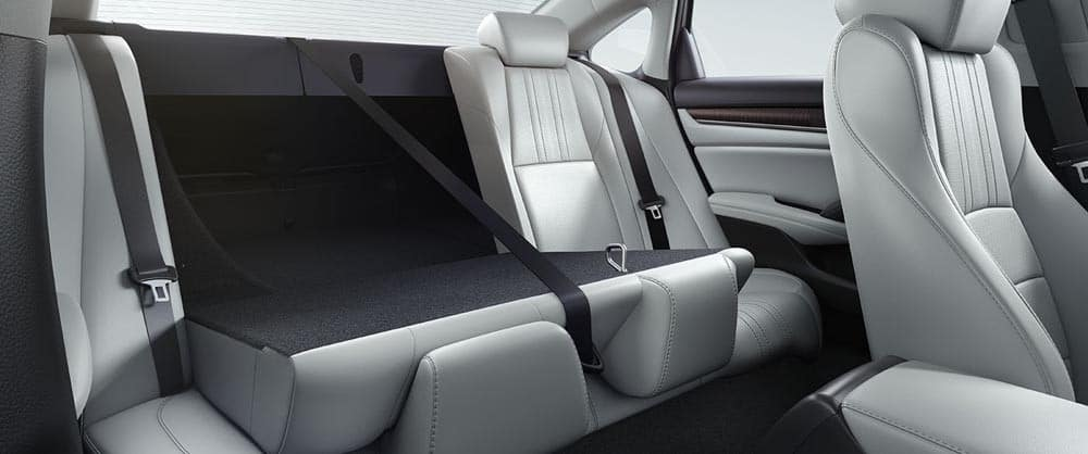 2018 Honda Accord Backseat Seating with Seat Folded Down