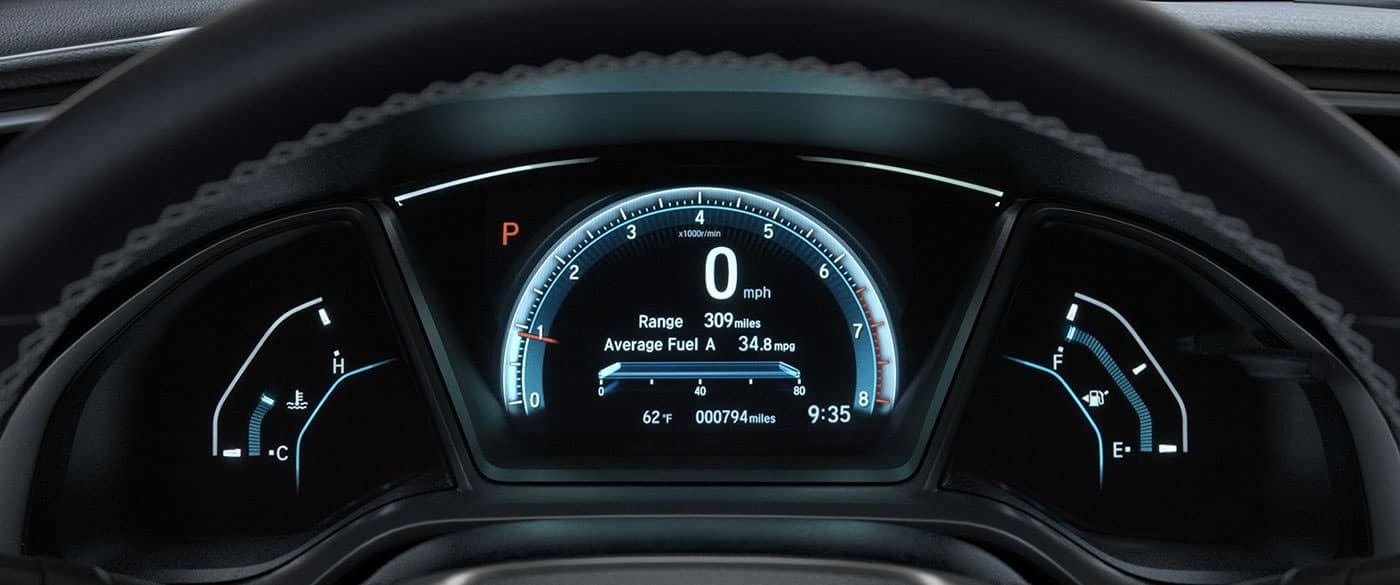 2018 Honda Civic Drivers Display