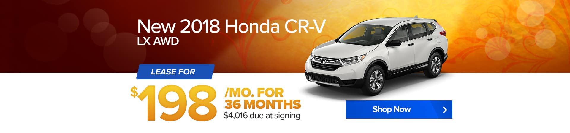 September special for the 2018 Honda CR-V at Balise Honda West Warwick