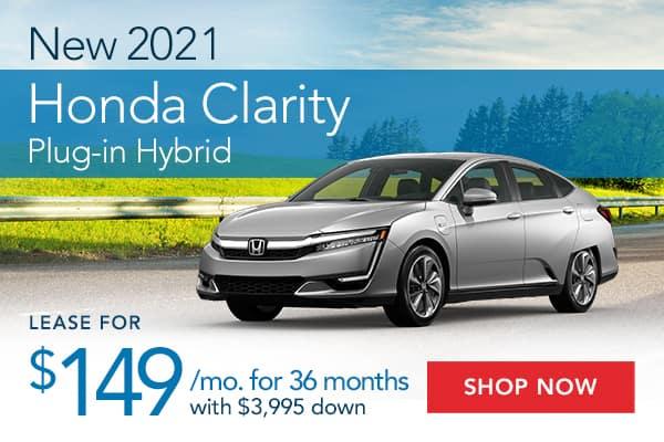 New 2021 Honda Clarity Plug-in Hybrid