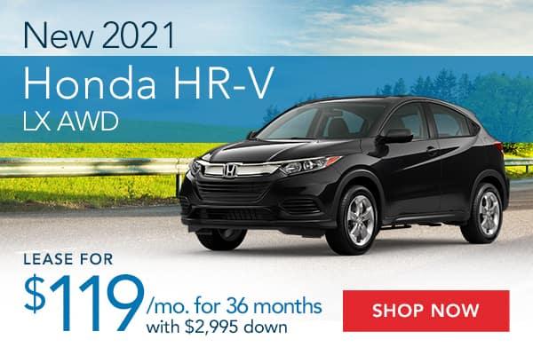 New 2021 Honda HR-V LX AWD