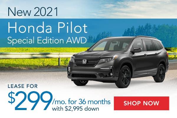 New 2021 Honda Pilot Special Edition AWD