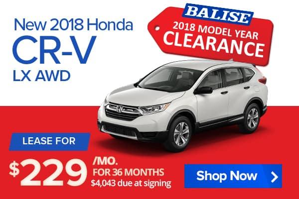 New 2018 Honda CR-V LX AWD
