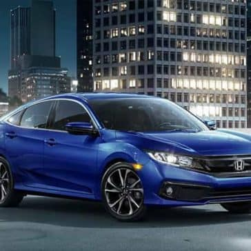 2019 Honda Civic Sedan blue exterior