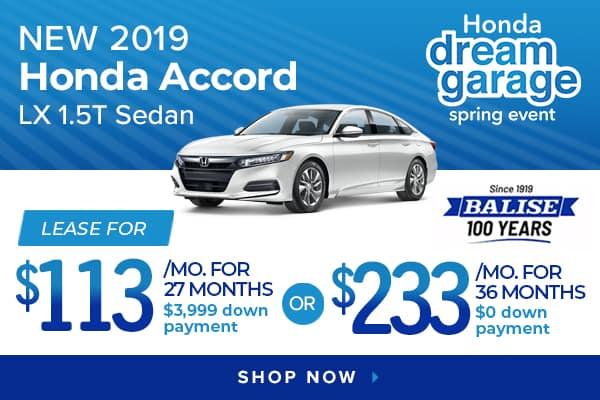 New 2019 Honda Accord LX 1.5T Sedan
