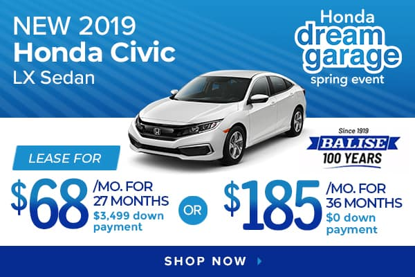 New 2019 Honda Civic LX Sedan