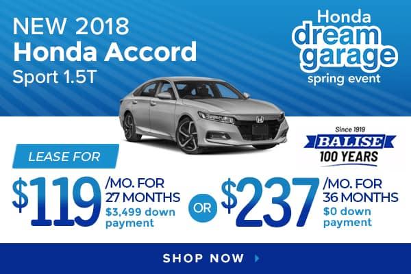New 2018 Honda Accord Sport 1.5T