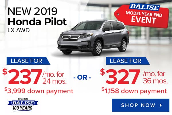 New 2019 Honda Pilot LX AWD