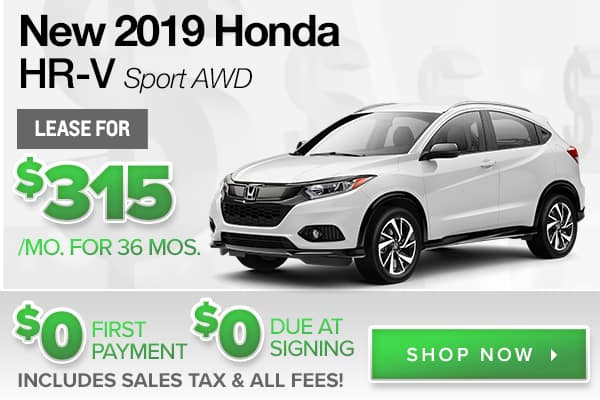 New 2019 Honda HR-V Sport AWD